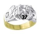 Scottish Rite 32nd Degree Shrine Ring Gold New