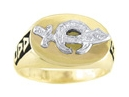 Shriner Ring - Solid Back in 10K Gold