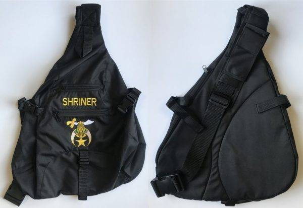 Shrine Shriner Sling Backpack Bag Black