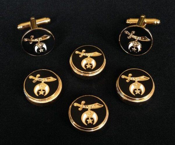 Shrine Shriner Button Cover Cuff Links New