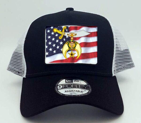Shrine Shriner US Flag Cap Hat Black New