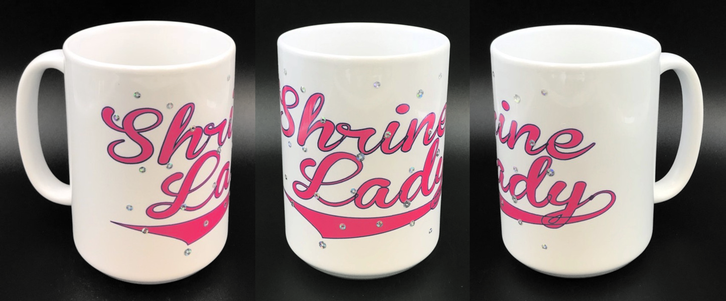 Shrine Lady Full Color 15oz. White Ceramic Mug