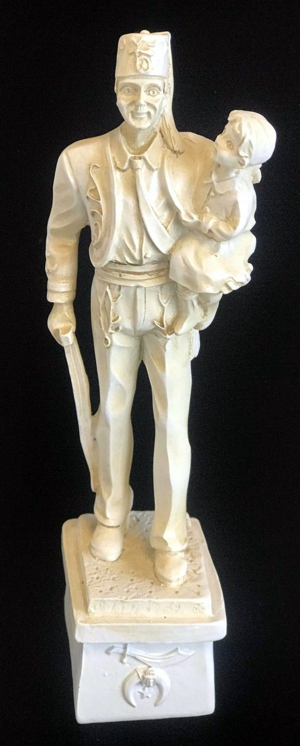 "Shriner ""Silent Messenger"" Statue (Ivory) - 7"" High"
