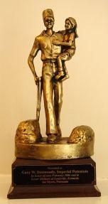 Shrine Shriner Silent Messenger Award Statue New