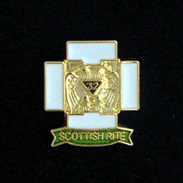 Scottish Rite 32nd Degree Lapel Pin New