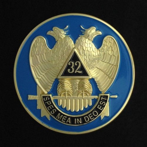 32nd Degree Scottish Rite (Light Blue) Car Auto Emblem