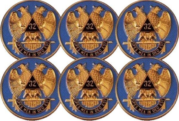 Scottish Rite 32nd Dgree Auto Emblem Blue
