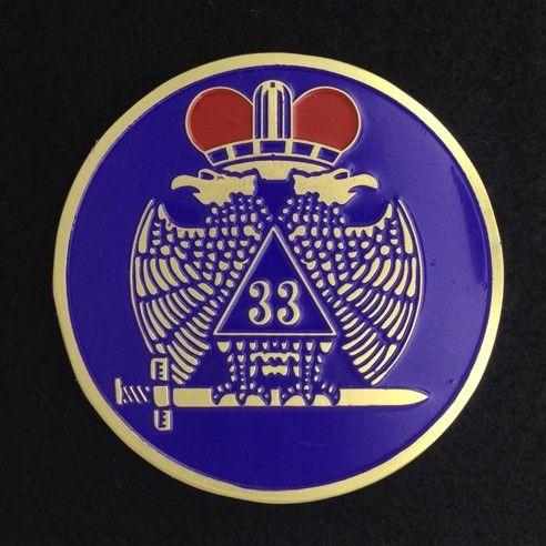Scottish Rite 33rd Degree Auto Emblem Purple