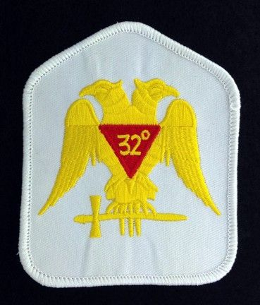 Scottish Rite 32nd Degree Embroidered Patch White