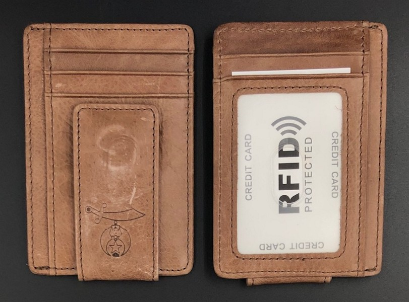 Shriner Leather Minimalist Wallet