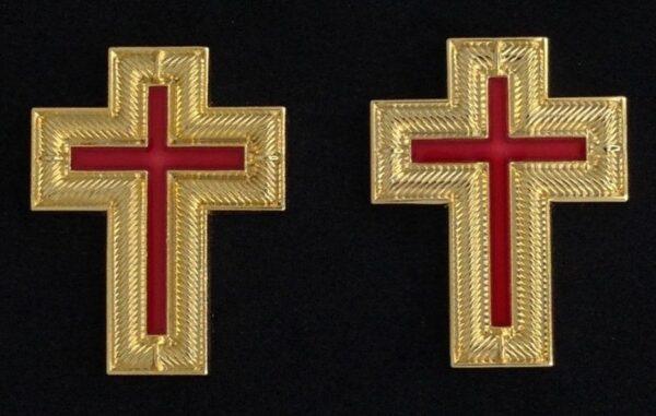 Knight Templar Collar Cross Gold New