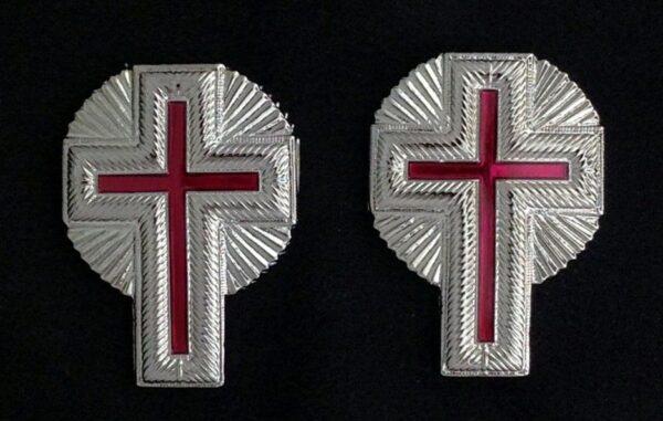 Knight Templar Collar Cross Rays Silver New