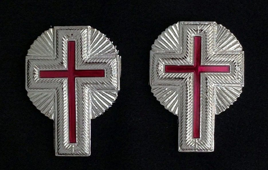 Sir Knight Metal Collar or Sleeve Cross with Rays (Pair) - Click Image to Close