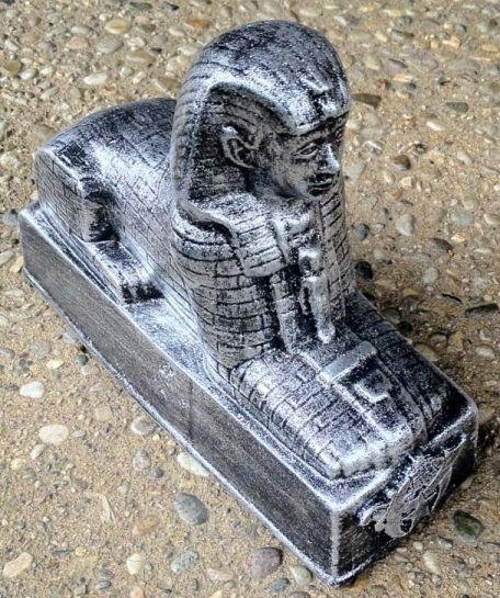 Shrine Shriner Sphinx Bookend Silver
