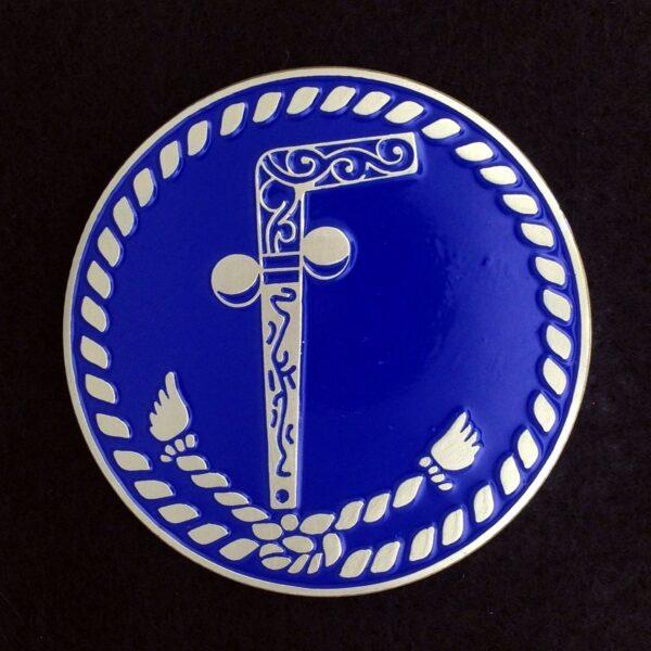 Masonic Two Ball Cane Auto Emblem New