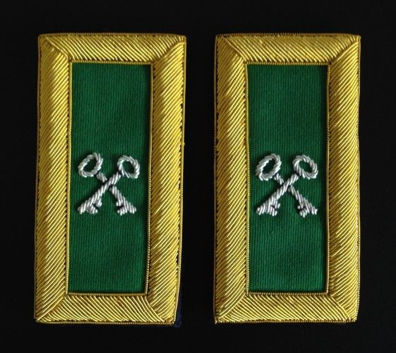 Commandery Treasurer Shoulder Boards Bullion New