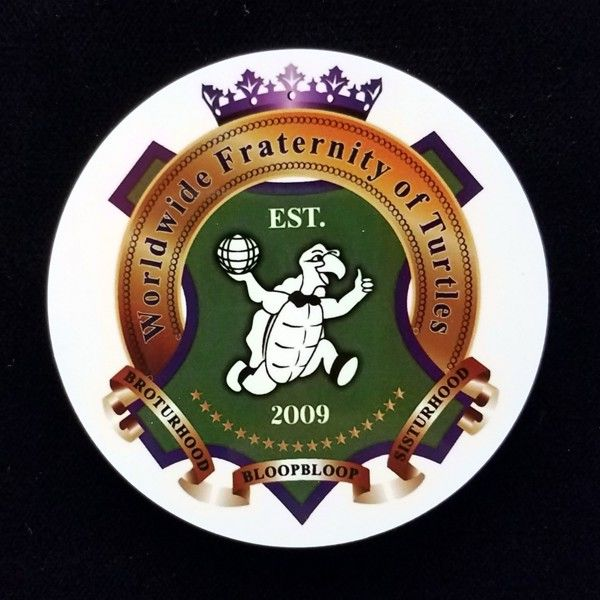 Worldwide Fraternity of Turtles Auto Emblem New