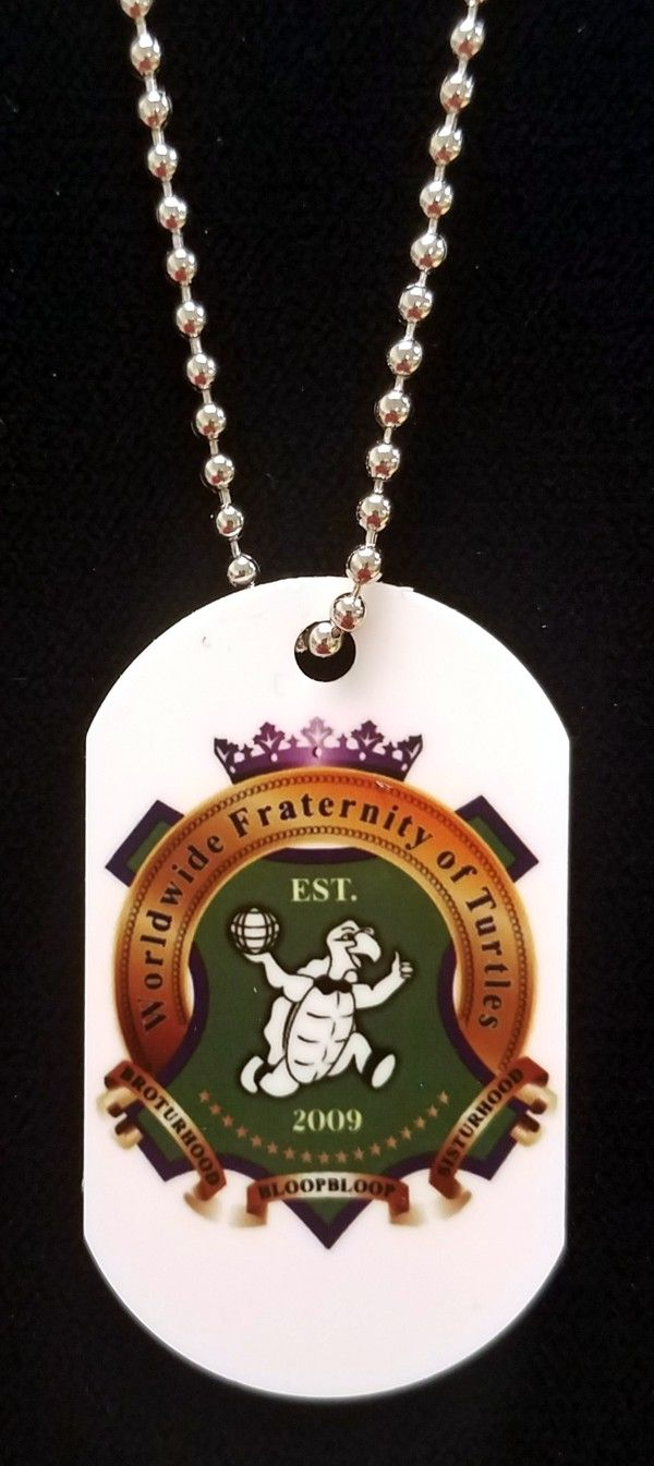 Worldwide Fraternity of Turtles Dog Tag & Chain