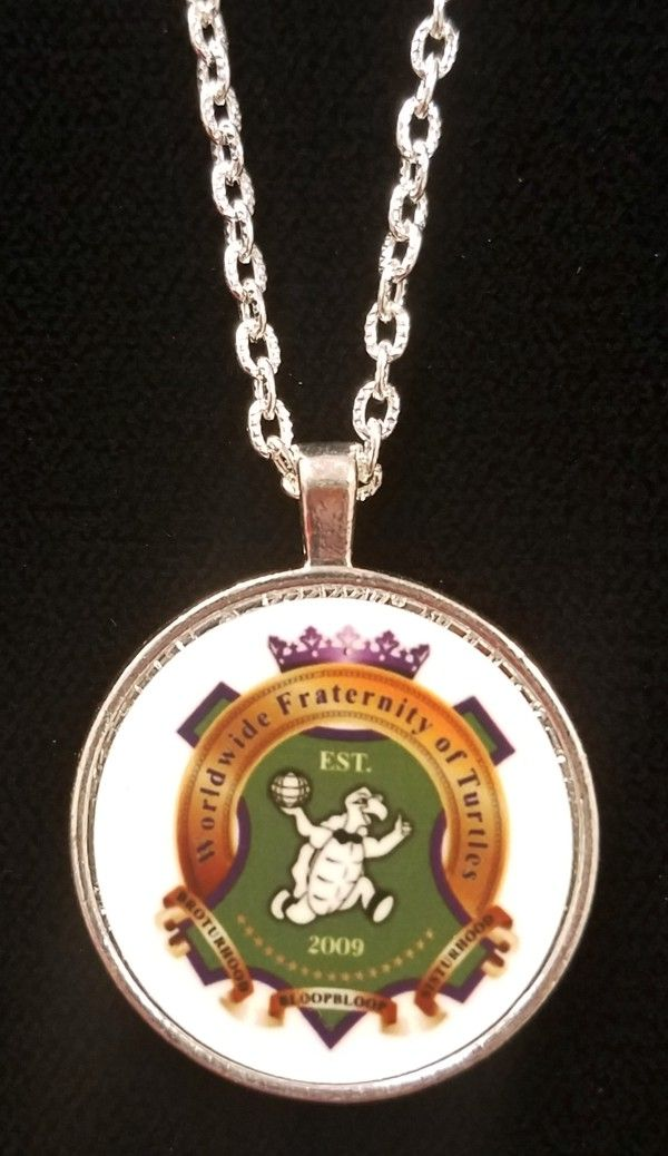 Worldwide Fraternity of Turtles Ladies Pendant & Chain