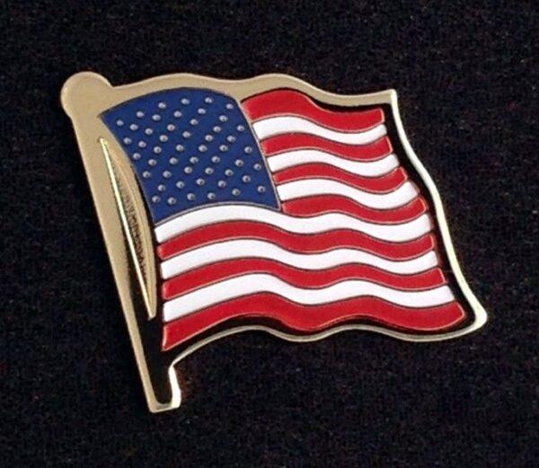 US Flag Lapel Pin New
