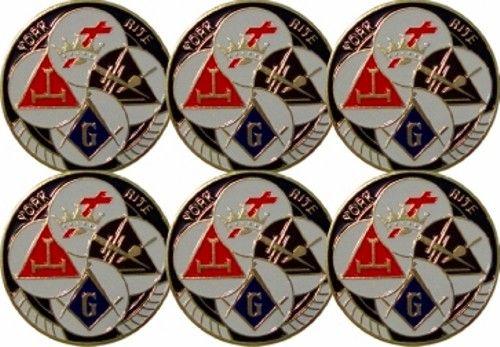Masonic York Rite Auto Emblem New For Sale