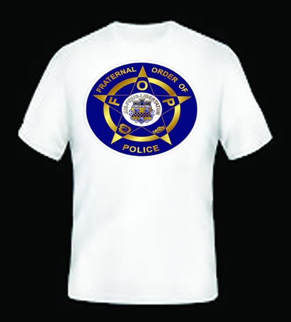 Fraternal Order of Police Embelm T-Shirt White