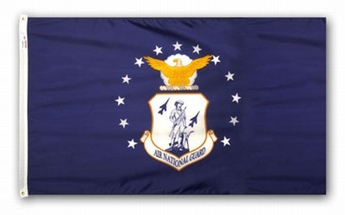 U.S. Air National Guard Nylon Keepsake Flag - 3' x 5'