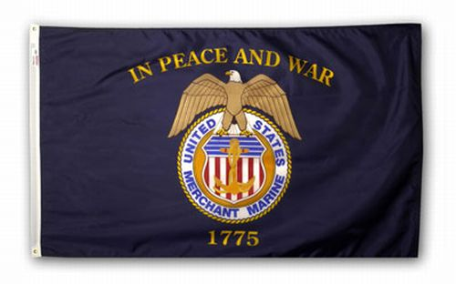 U.S. Merchant Marine Nylon Keepsake Flag - 3' x 5'
