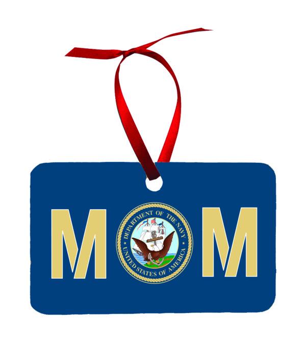 US Navy Mom Christmas Ornament New
