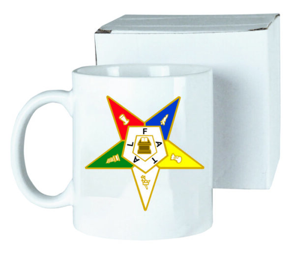 Order of Eastern Star Ceramic Coffee Mug New