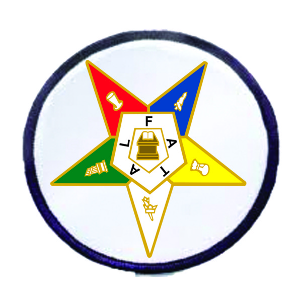 Order of the Eastern Star Patch Round New