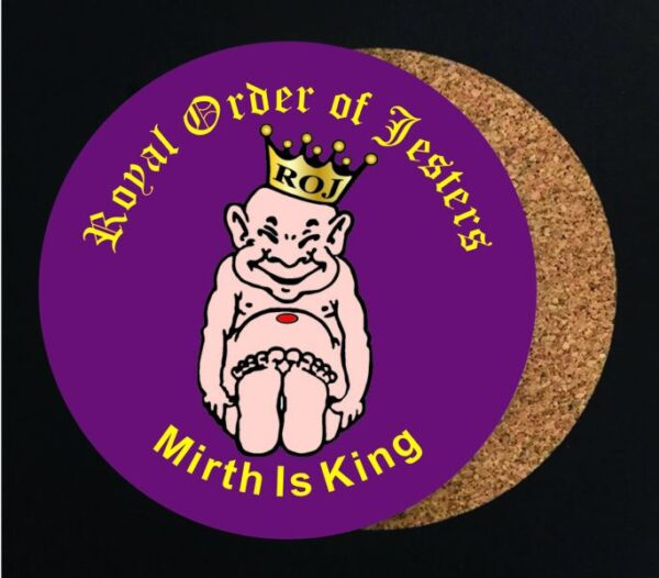 Royal Order of Jesters Drink Coaster New