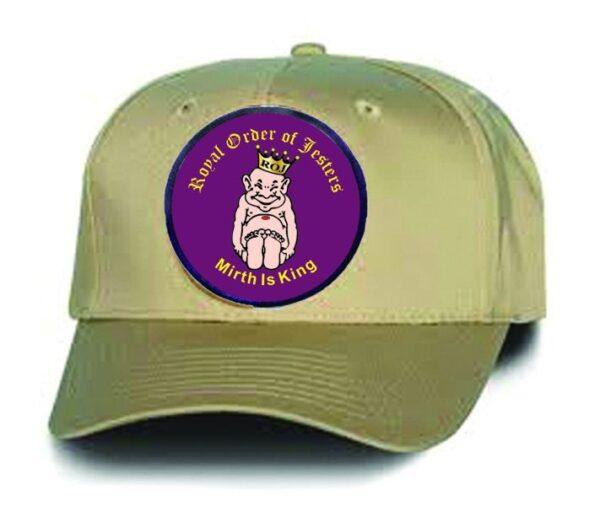 Royal Order of Jesters Khaki Cap Hat New
