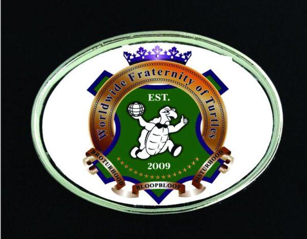 Worldwide Fraternity of Turtles Belt Buckle New