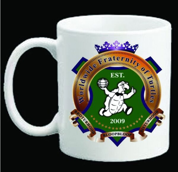 Worldwide Fraternity of Turtles Ceramic Coffee Mug New