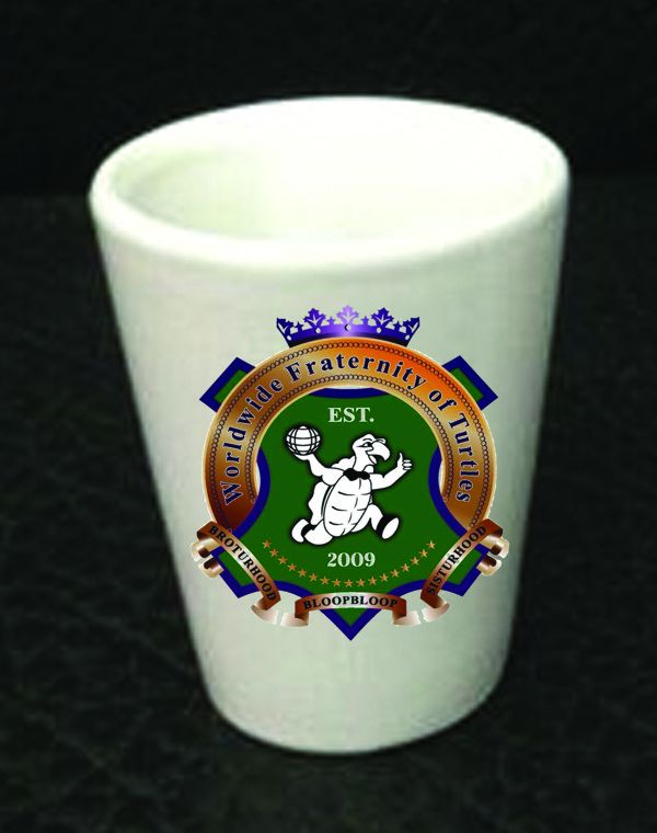 Worldwide Fraternity of Turtles Shot Glass New