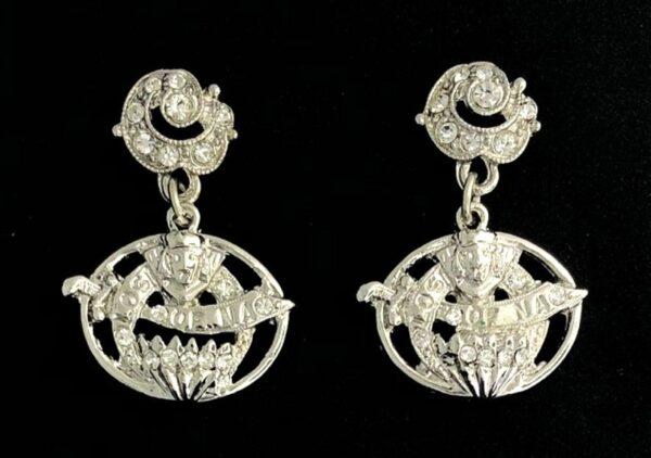 Ladies Oriental Shrine Earrings New For Sale