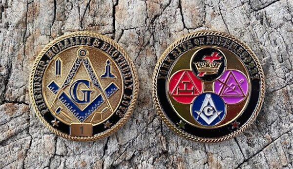 Masonic York Rite Challenge Coin