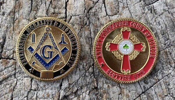 Masonic Scottish Rite KCCH Challenge Coin