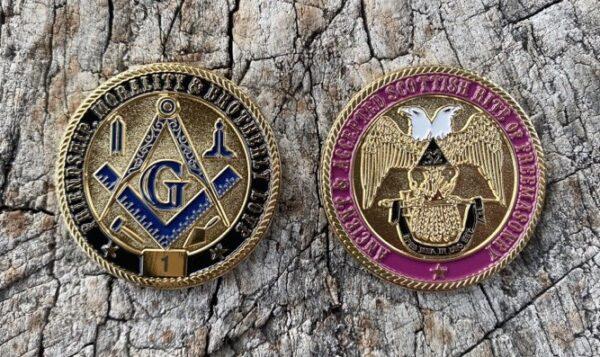 Masonic Scottish Rite 32nd Degree Challenge Coin