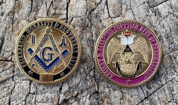 Masonic Scottish Rite 33rd Degree Challenge Coin